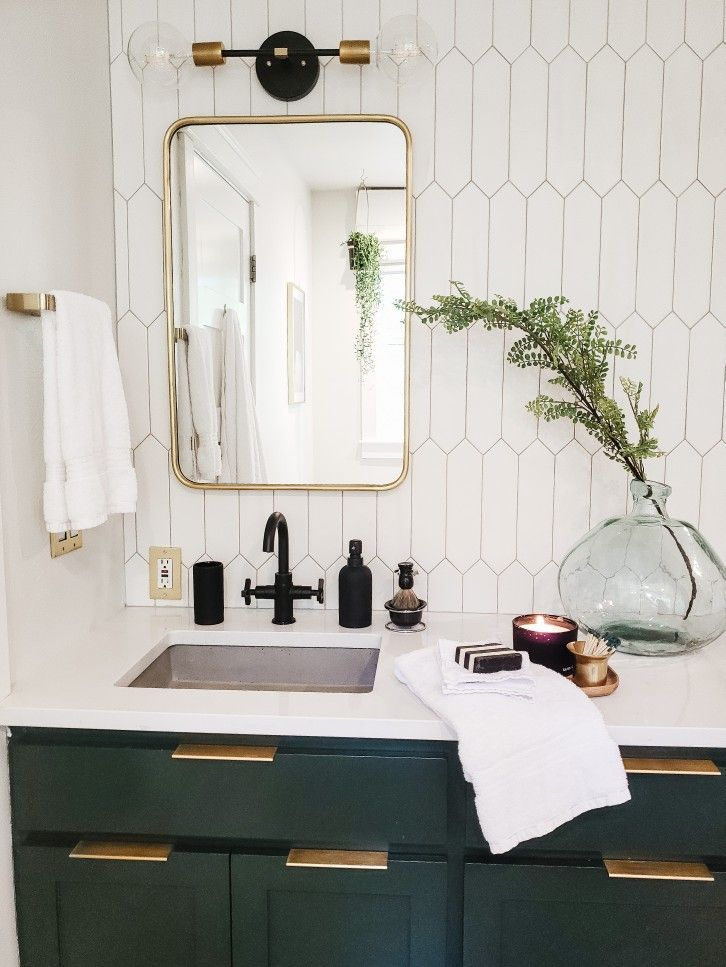 Pin By Stacy Gowen On Build In 2020 Dark Green Bathrooms Master