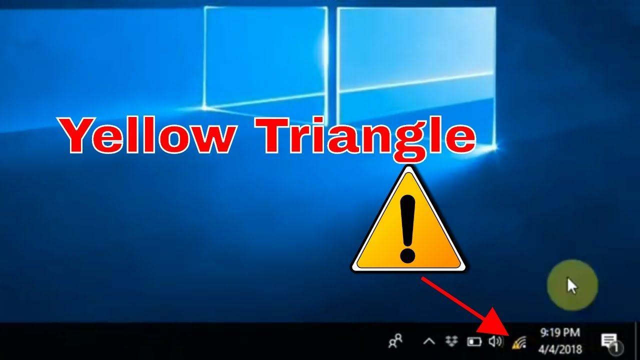 How to fix yellow triangle wifi