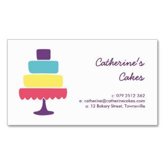 Brightly colored cake bakery business card template bakery brightly colored cake bakery business card template reheart Gallery