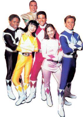 The Original Power Rangers  When Tommy was still the green ranger