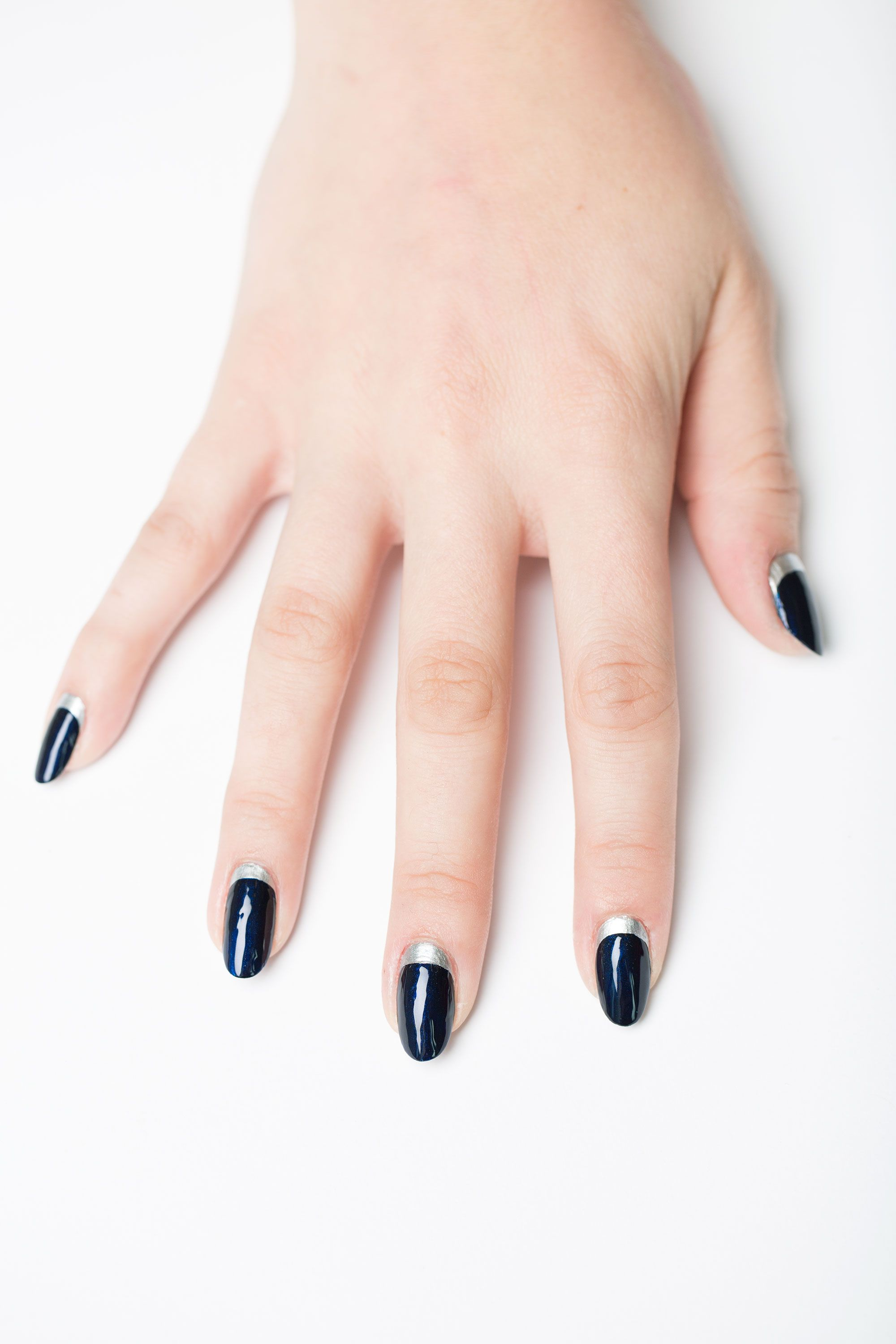 3 step nail art ideas you can totally do yourself nail polish sexy feminine and oh so versatile this design can be created using just about any two shades to fit the season or holiday colors used essie nail polish solutioingenieria Choice Image