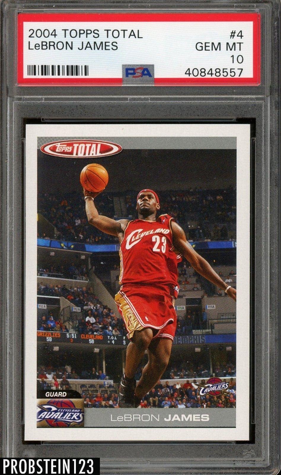 deee56cc7bc 2004 Topps Total  4 Lebron James Cleveland Cavaliers PSA 10 GEM MINT   BasketballCards Lebron