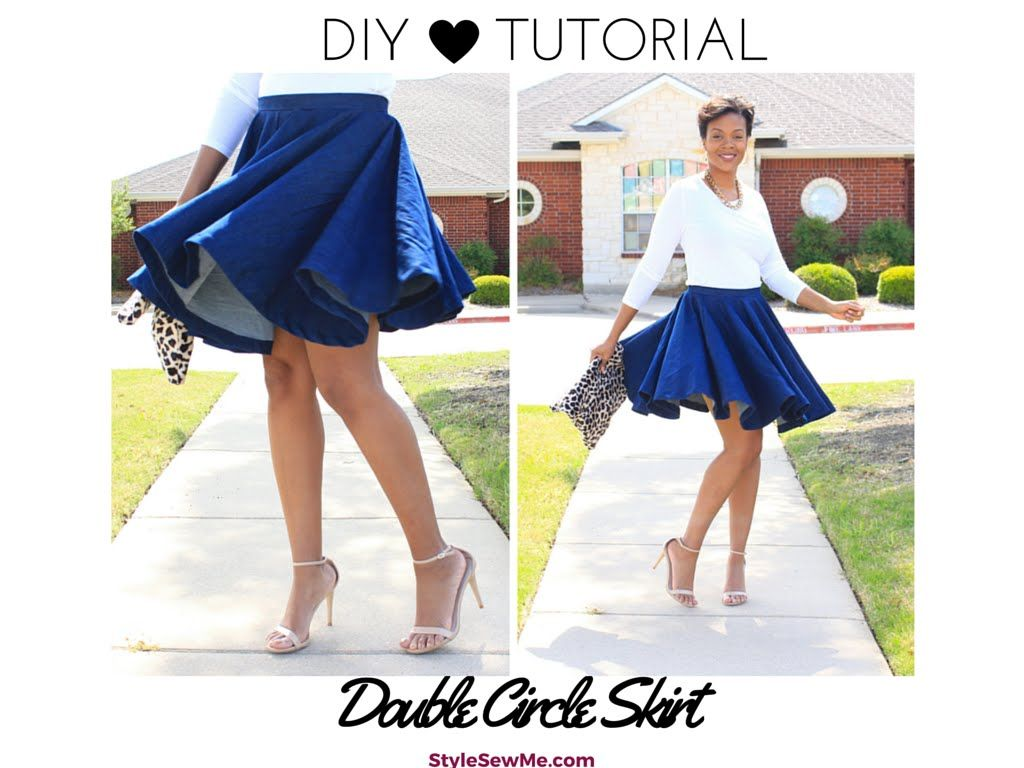 28f3f08a46 DIY Double Circle Skirt Tutorial - No Math Needed! | Sew Your Own ...