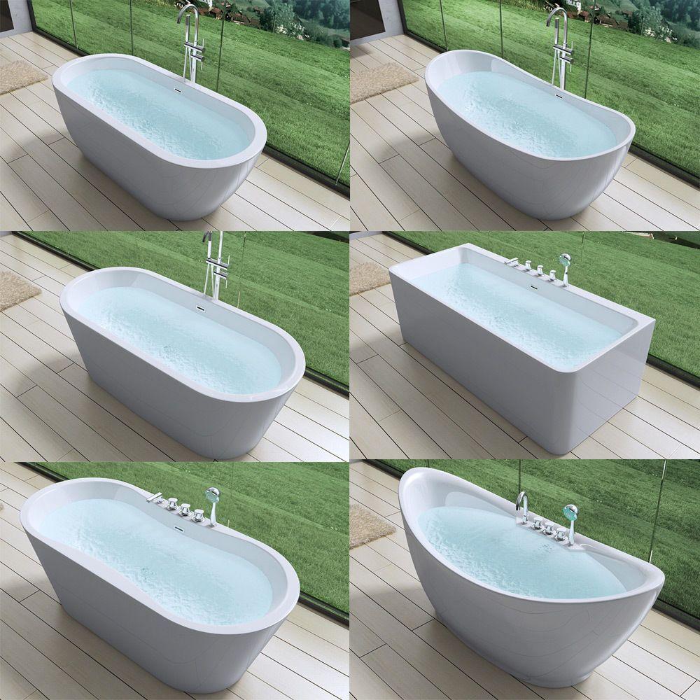 Design Freistehende Badewanne Acrylwanne Standbadewanne Ablauf 170 180x80cm Ebay Freistehende Wanne Badewanne Freistehende Badewanne