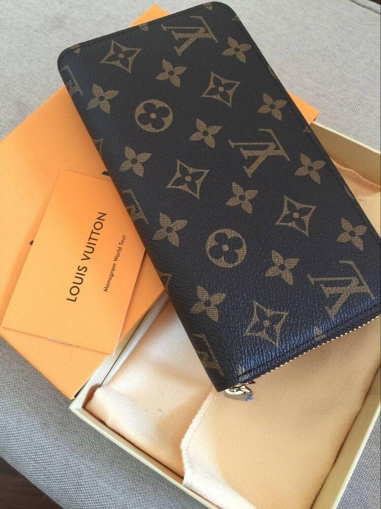 Authentic louis vuitton monogram zippy wallet zip around