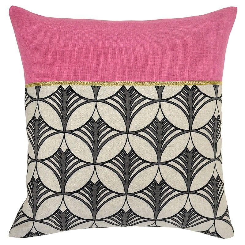 Suki Geometric Circles Square Throw Pillow