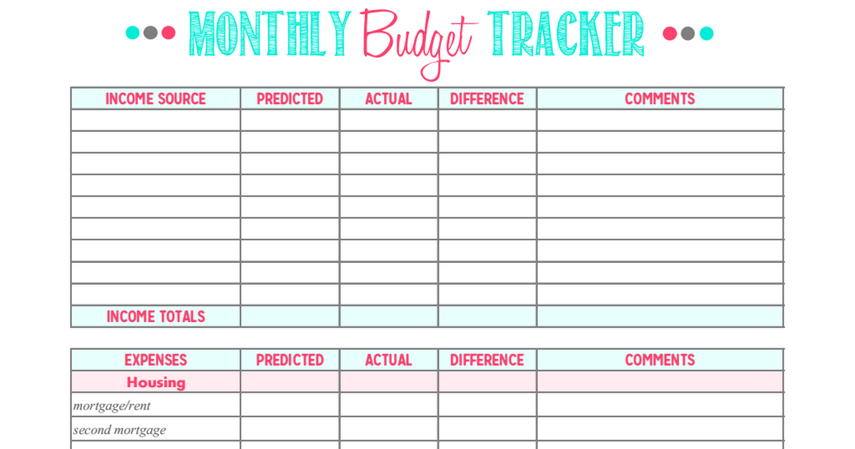 final monthly budget tracker pdf editpdf
