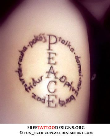 Pics Photos Peace Symbol Tattoos Images For Peace Symbols