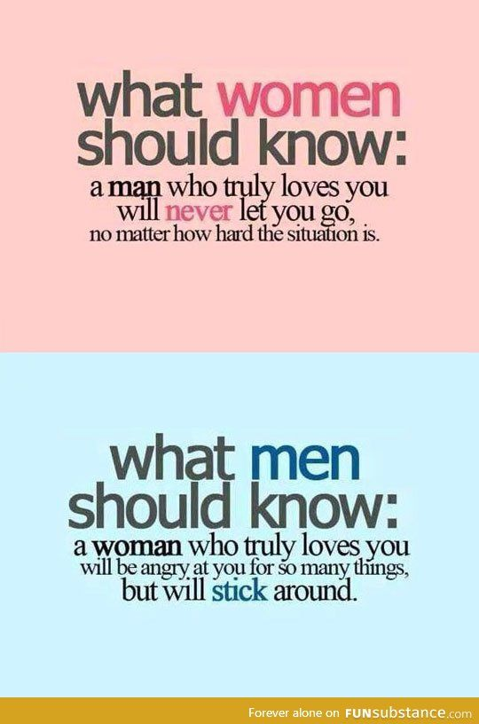 What men and women should know - FunSubstance