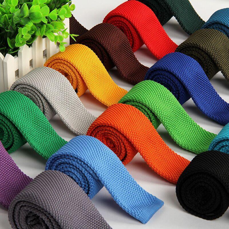 20 Color de la manera 5.5 cm corbata estrecha corbata de punto de ...