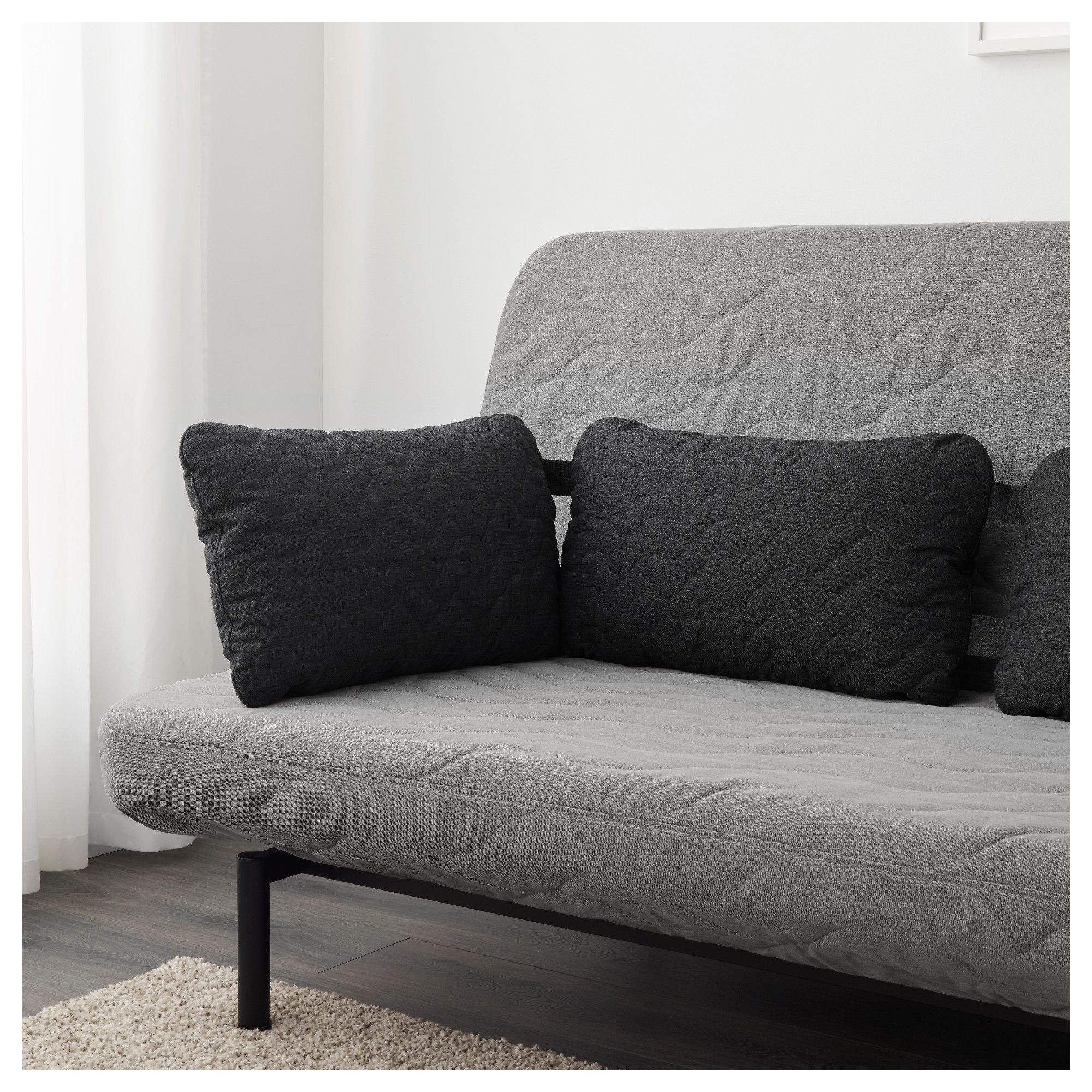Ikea Nyhamn Triple Cushion Skiftebo Dark Gray Anthracite Gray