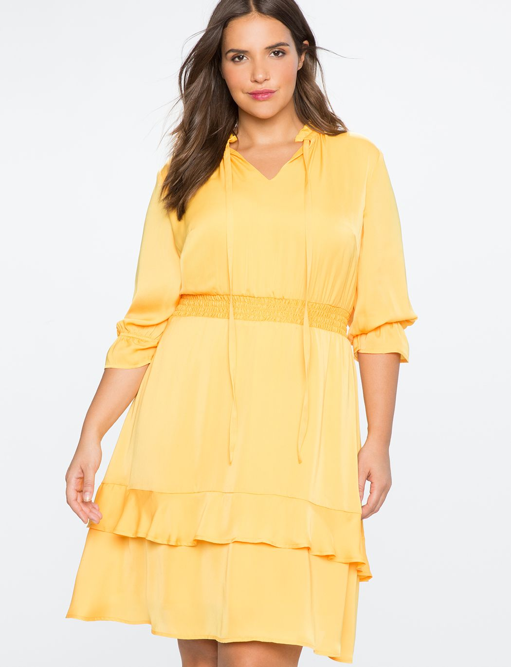 f8f8b41a9a3 Pullover Smocked Waist Fit and Flare Dress