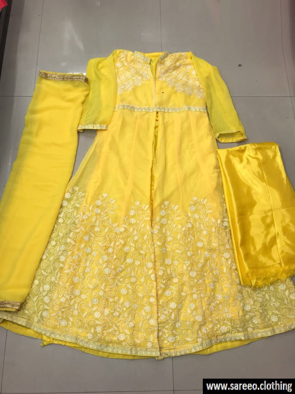 Yellow dress suit  Best Look Yellow Georgette Salwar Suit  Salwar suits Color yellow