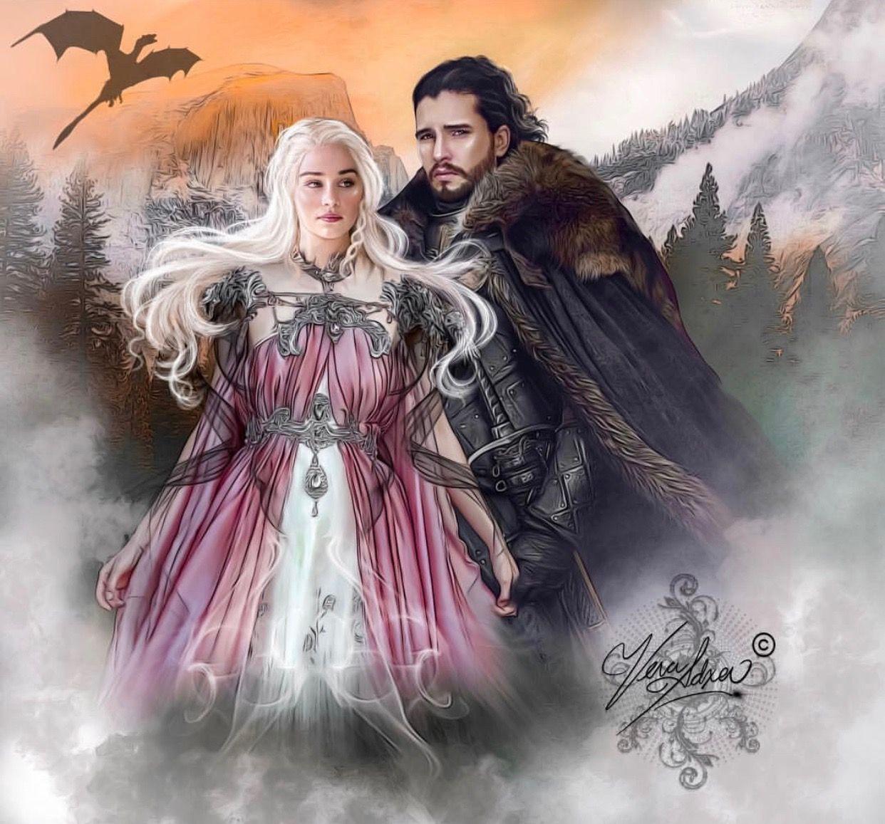 Vera Adxer Got Daenerys Targaryen Jon Snow Daenerys And Jon Jon Snow And Daenerys Fan Art