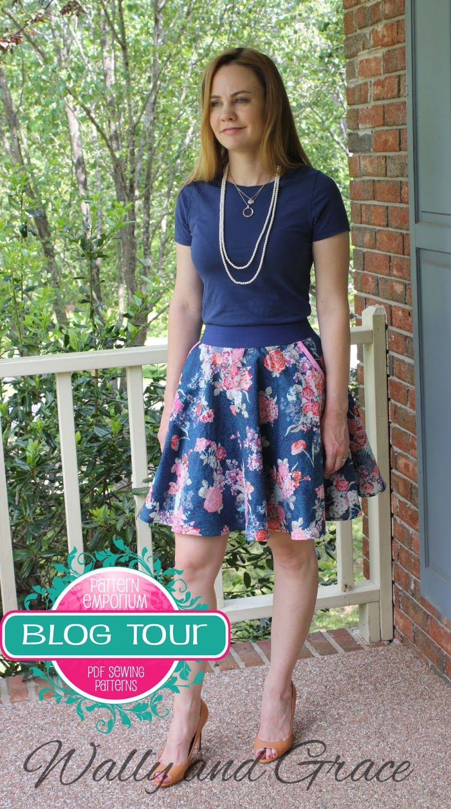 Wally And Grace Designs Pattern Emporium Skater Skirt Clothing