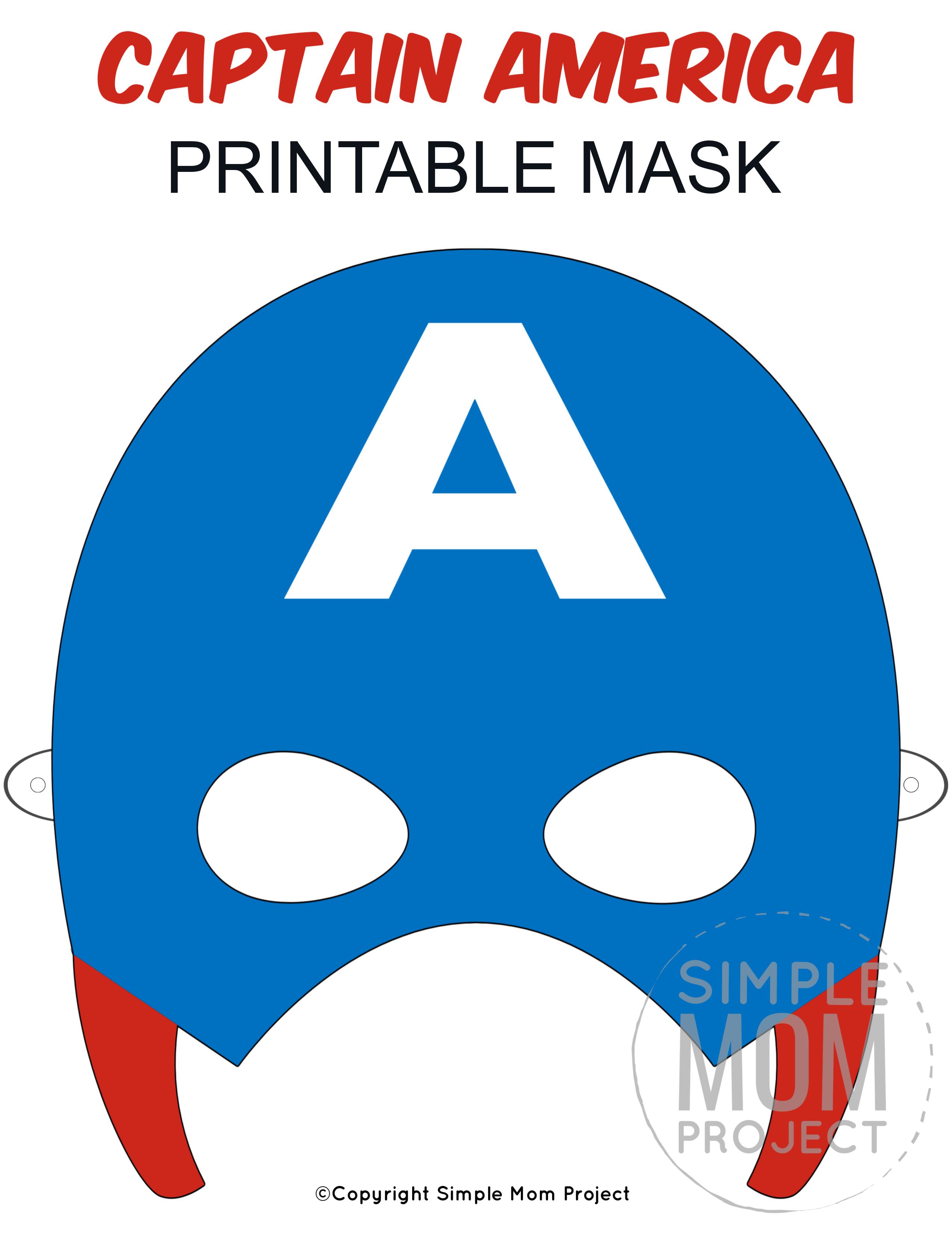 Free Printable Captain America Mask Template Captain America Mask Mask For Kids Mask Template