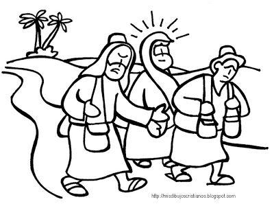 Camino A Emaus Road To Emaus Camino De Emaus Dibujos Semana Santa Ninos