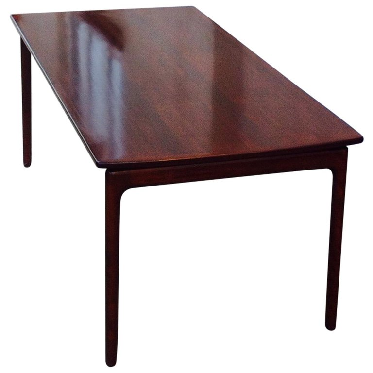 Danish Modern Mahogany Coffee Table With Floating Tabletop By Ole