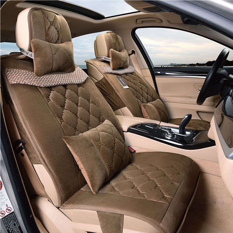 3D Winter Plush Car Seat Cover Cushion For BMW 3 4 5 6