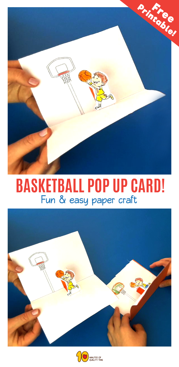 Basketball Pop Up Card is part of Simple Kids Crafts Fun Activities - Related Posts Floating Egg Science Experiment for Kids How To Draw a Frog Step by Step for Kids Paper Hat for Kids Seesaw Paper Craft for Kids Design and Draw Different Hairstyles Building Blocks Science Experiment