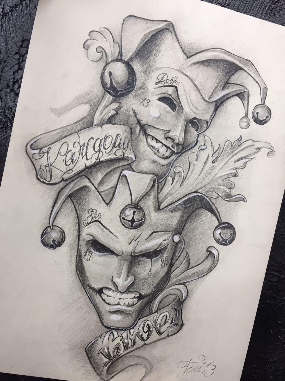 Desenho Palhaço Tatuagem chora agora eu depois | desenho tatuagem, desenhos para