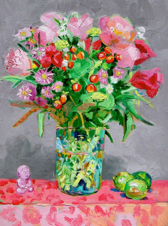 Bouquet with Key Limes and Pocket Buddha by Margaret Owen