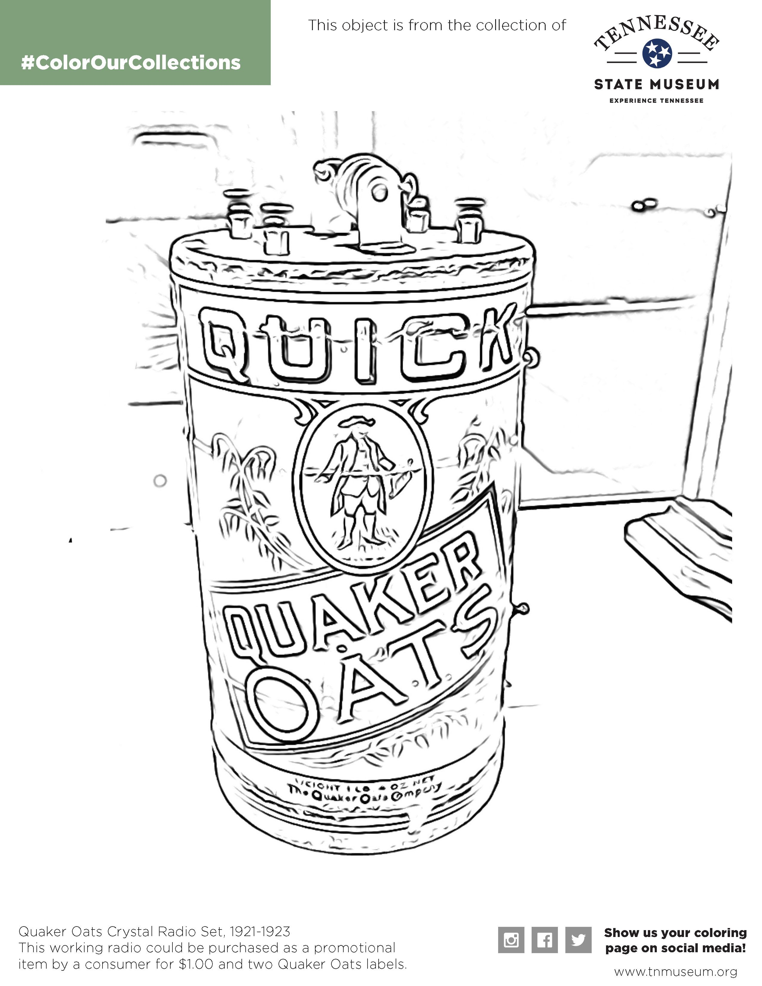 Color Our Collection Quaker Oats Crystal Radio Set Captain America Coloring Pages Avengers Coloring Pages Coloring Pages Inspirational