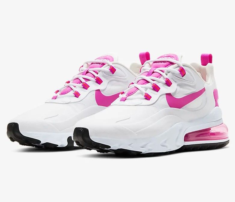 air max react noir et rose
