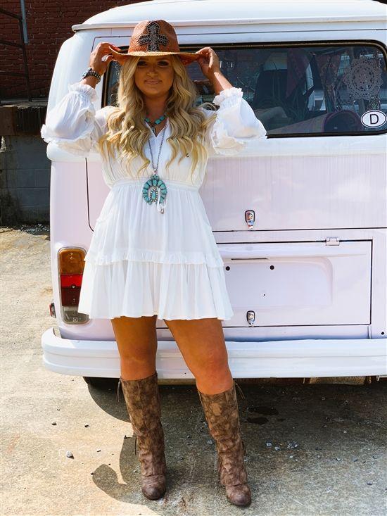 Unbroken Love Bohemian Dress - White