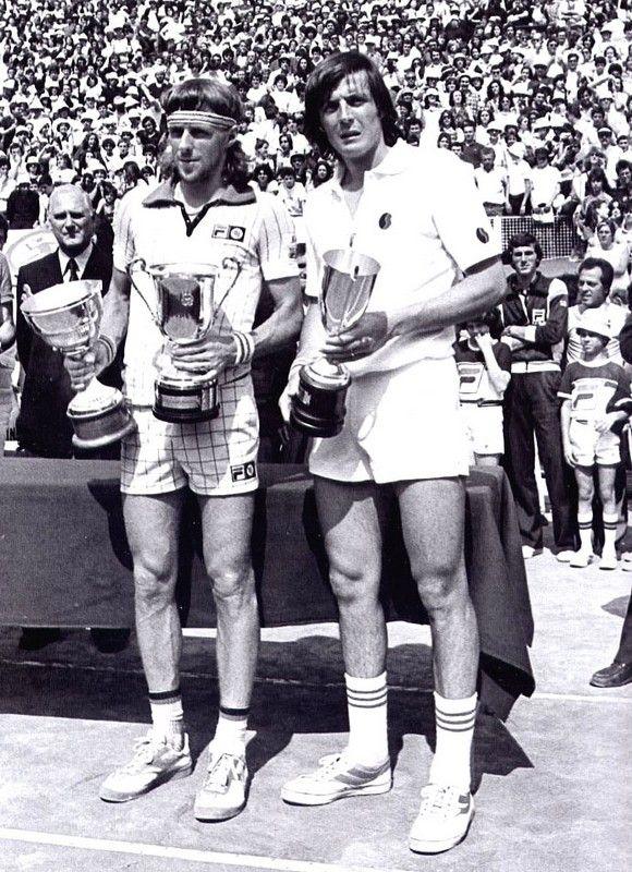 Bjorn Borg e Adriano Panatta Roma 1978