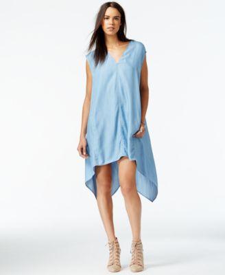 Rachel Roy Sydney Cap Sleeve Chambray Sheath Dress