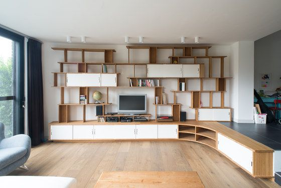 Curve Wood Bookshelf Tv By Jo A Architonic For Sor S