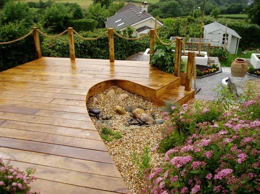 A beach garden 1 garden pinterest more garden images for Garden decking with rope