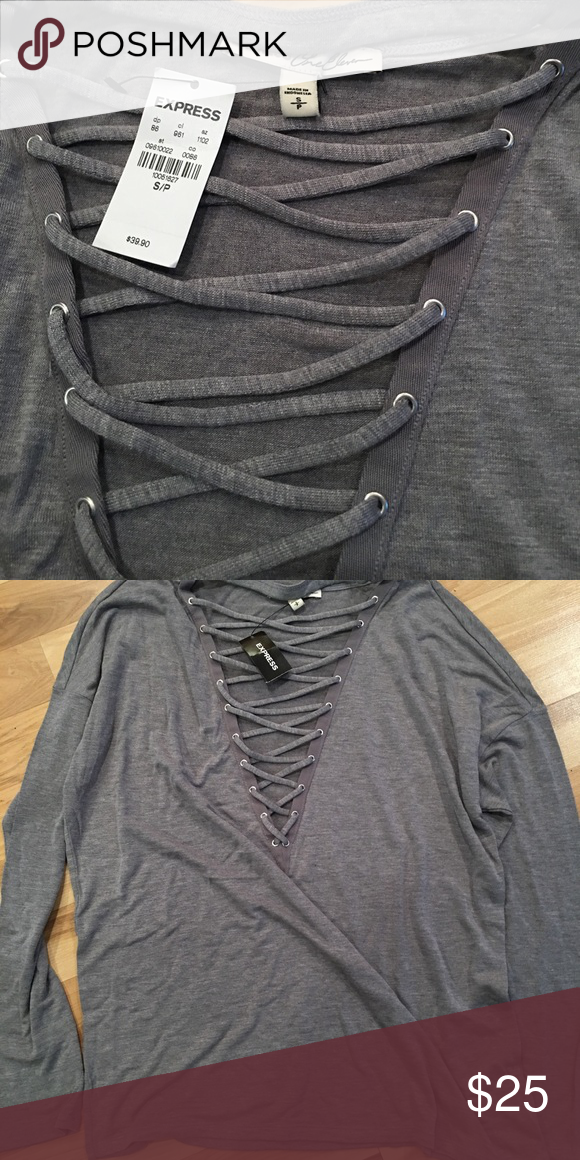 Express long sleeve tee, size small, new with tags Grey, size small, long sleeve tee, One Eleven line, new with tags, retails for $39.90 Tops Tees - Long Sleeve