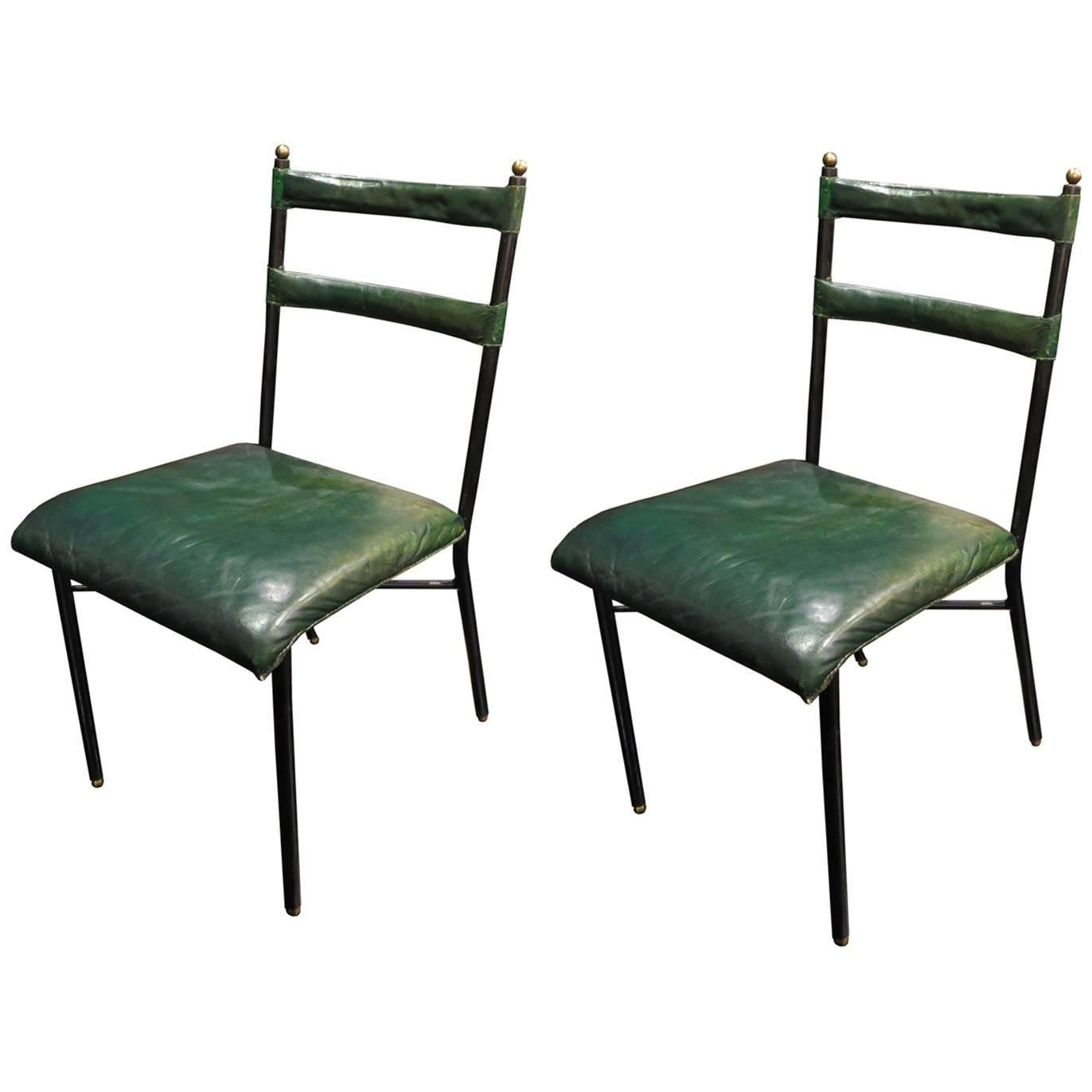Pair Of Original Jacques Adnet Chairs 1950s Chair The
