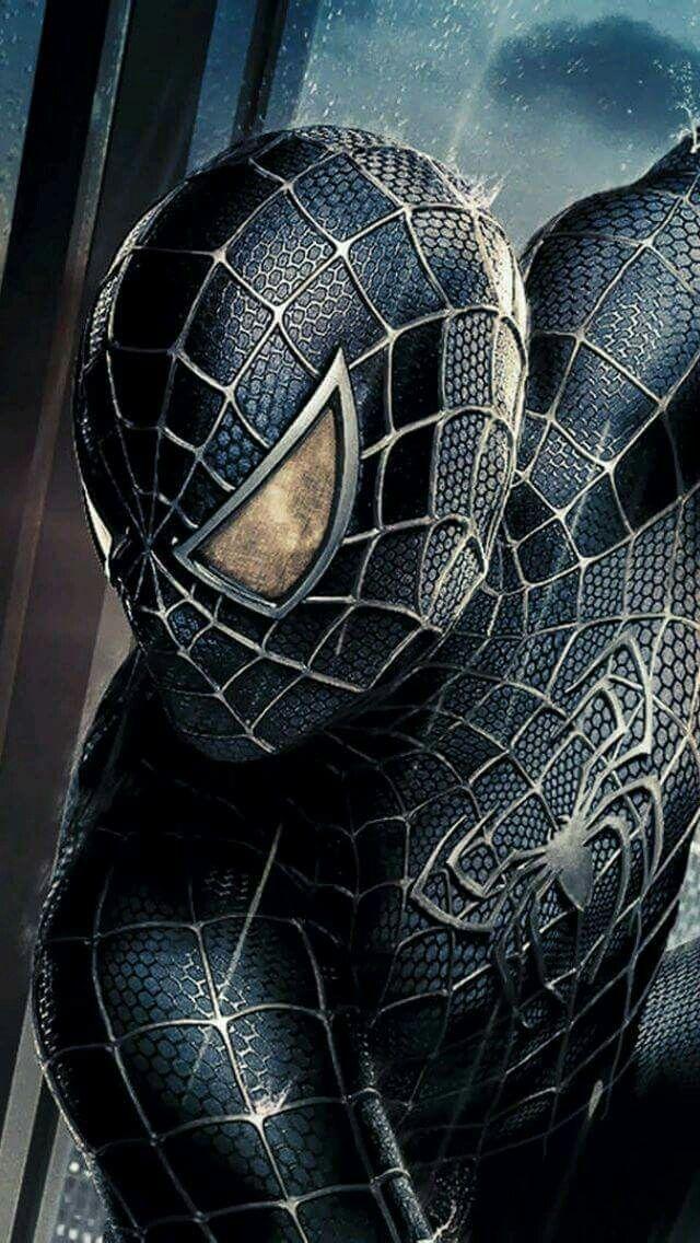 black costume spidey with symbiote spider man 3 comic movieverse