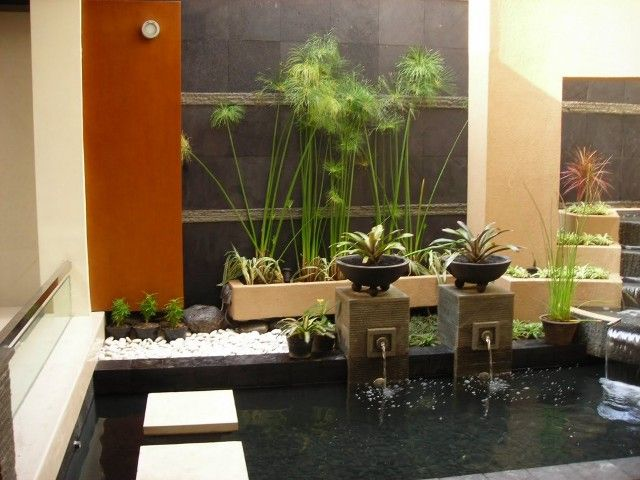 Decoration ideas impressive fountain on small pond cool garden design idea for minimalist home