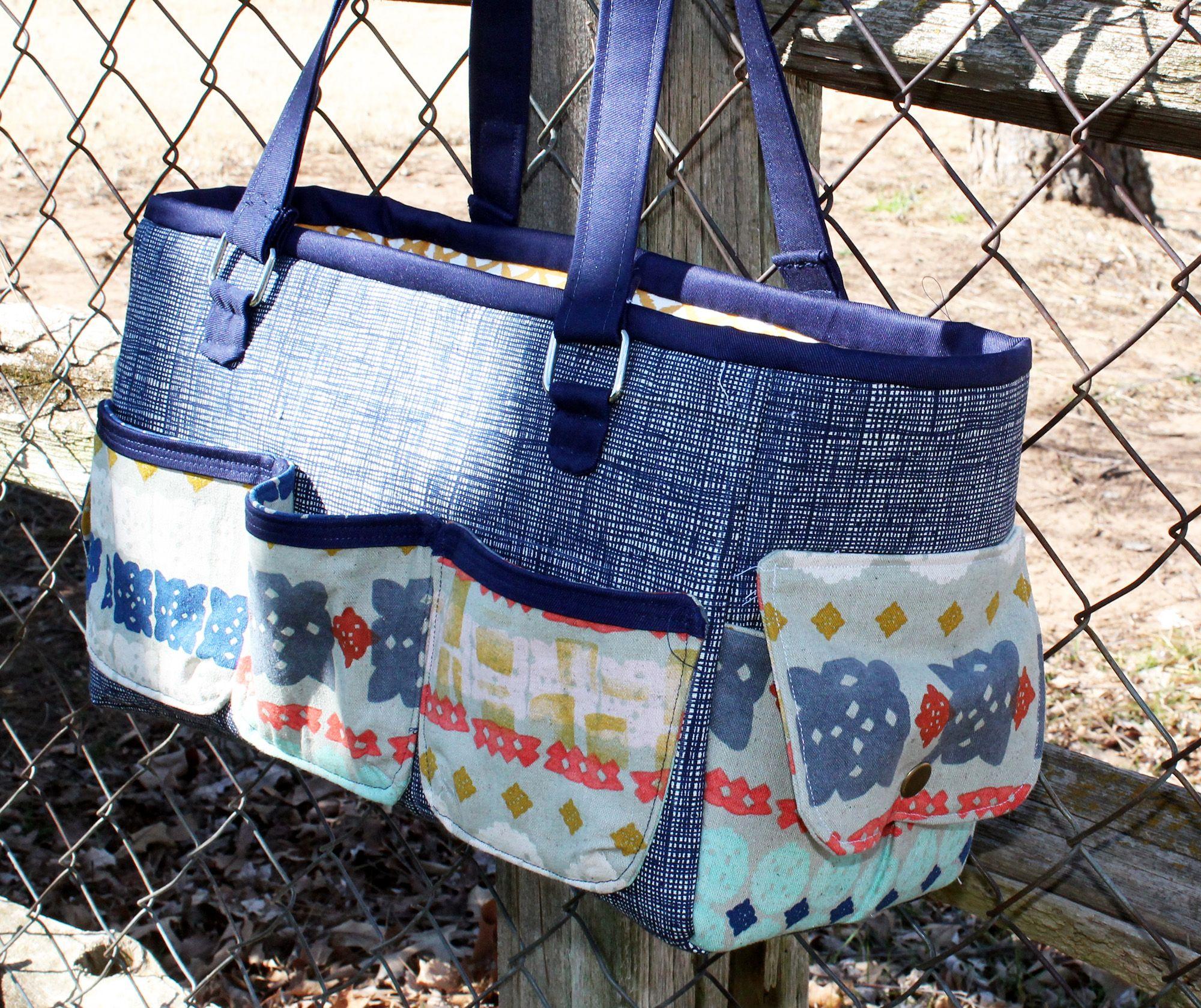 FREE Oslo Craft Bag pattern | Taschen nähen und Nähen