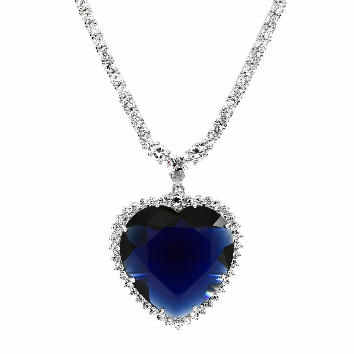 Pin by tea rhames eternal fantasyinc on the heart of the ocean the inspired by titanic heart of the ocean necklace pendant is a stunning carat simulated sapphire dont forget to shop our matching inspired blue heart aloadofball Image collections