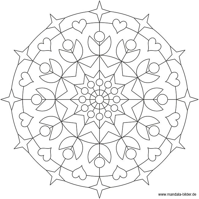 Mandala fr Erwachsene  Kostenlos  Applique  Mandalas