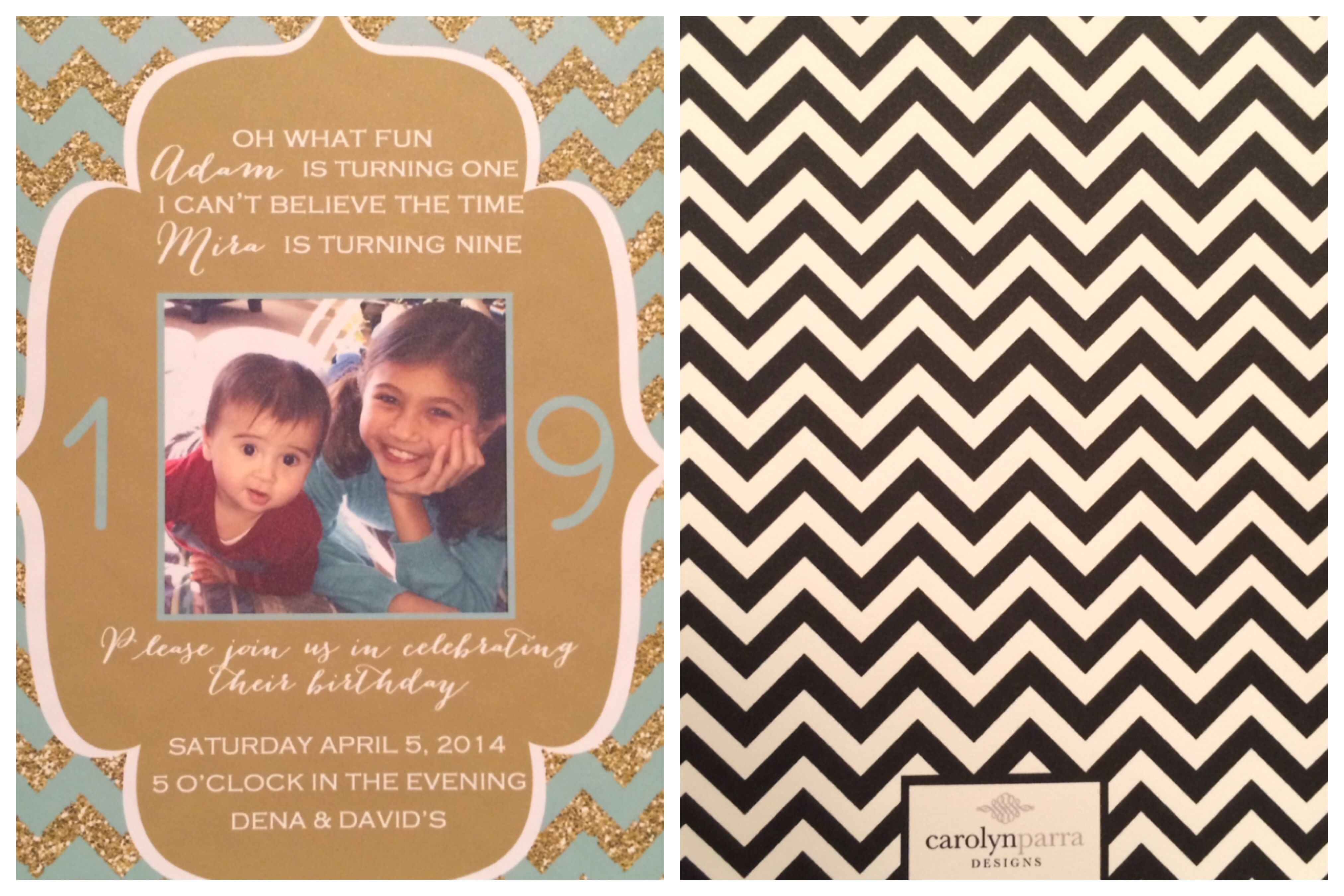Birthday party I planned for my niece and nephew...invitation courtesy of Carolyn Parra Designs (Etsy)