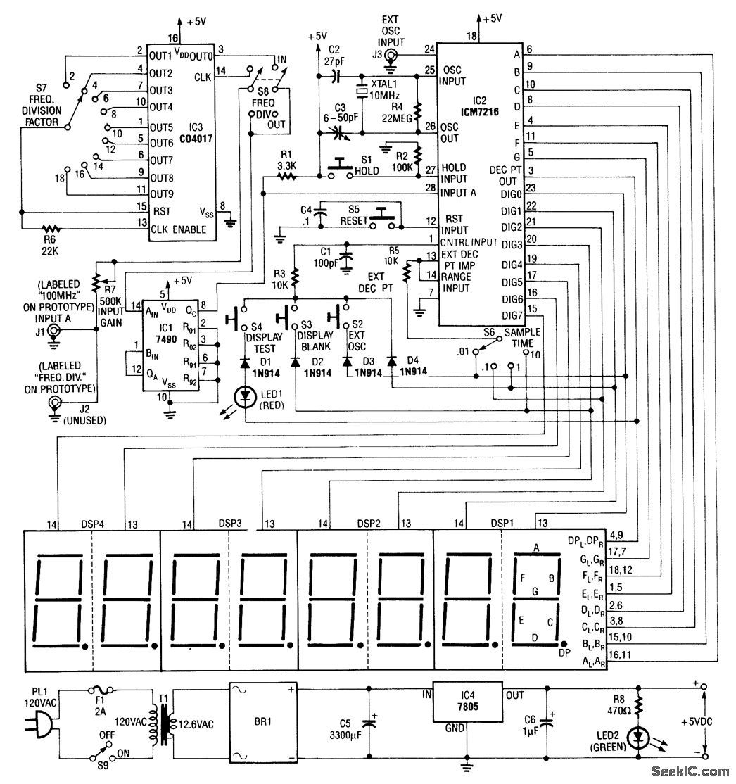 Frequency Counter Schematic Diagram : Frequency counter circuit diagram tradeoficcom