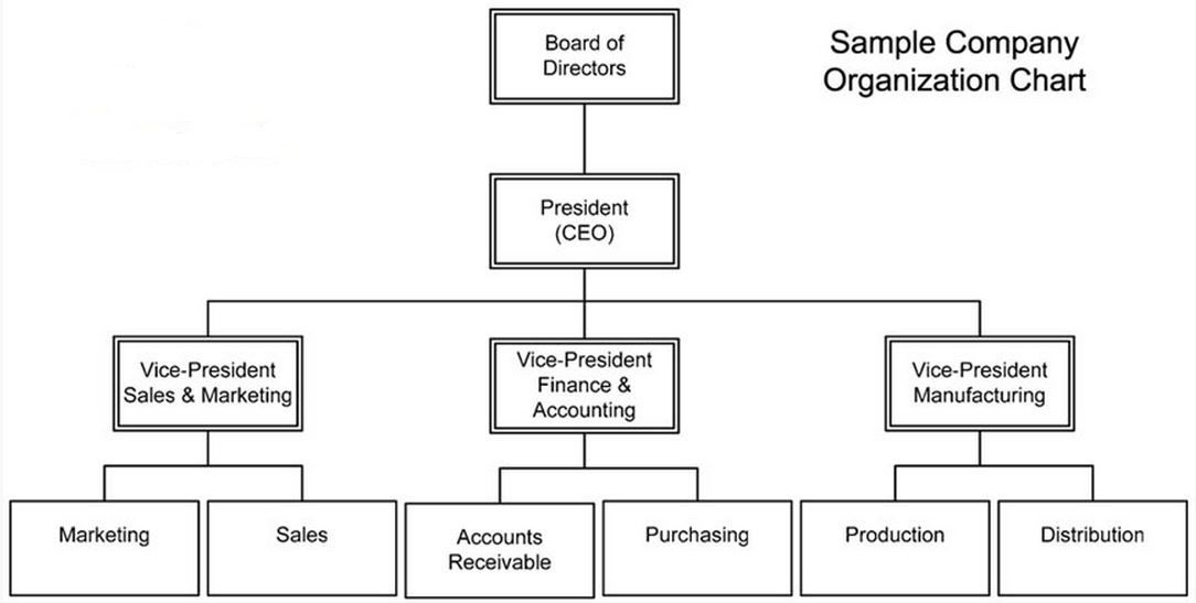 Free Company Structure Chart Template  Excel Project Management