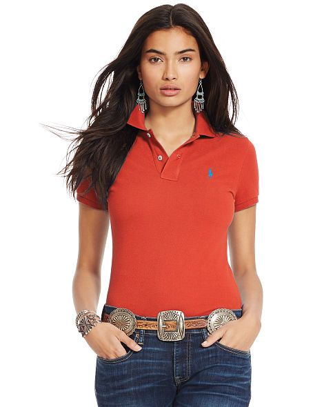 Skinny-Fit Stretch Polo Shirt - Polo Ralph Lauren Polo Shirts - RalphLauren .com