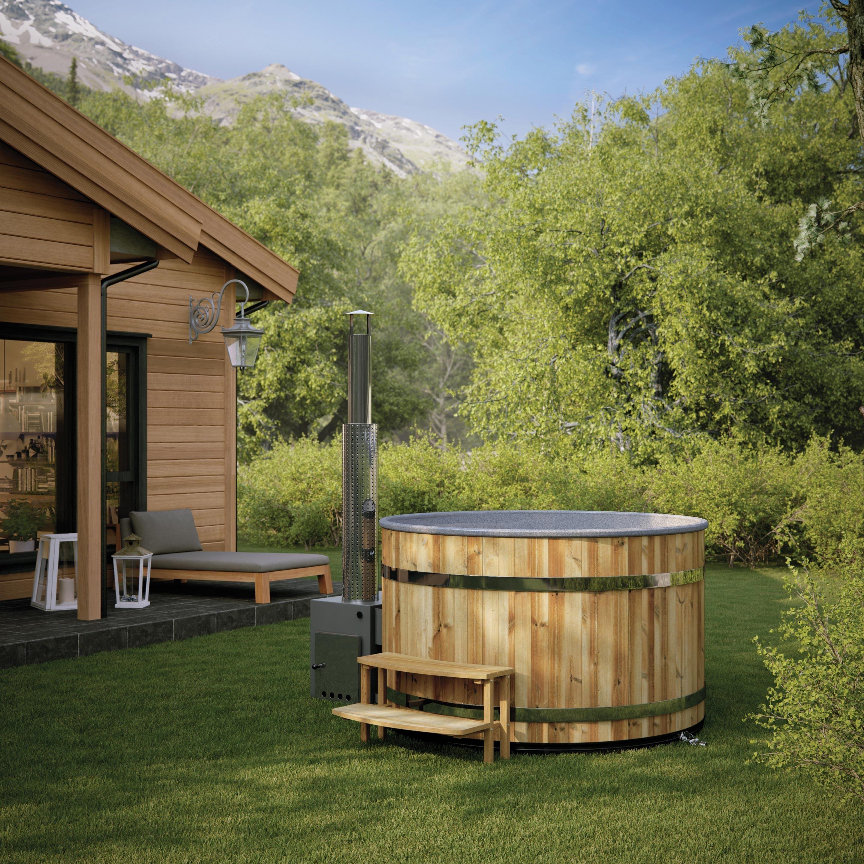 Jacuzzi 6 Places Leroy Merlin bain nordique en bois, 6 places, kirami, cozy en 2020 | bain