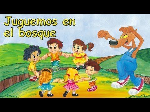 Cancicón Juguemos En El Bosque Canciones Y Rondas Infantiles Youtube Dibujo Animado La R Canciones Infantiles Rondas Infantiles Canciones De Niños