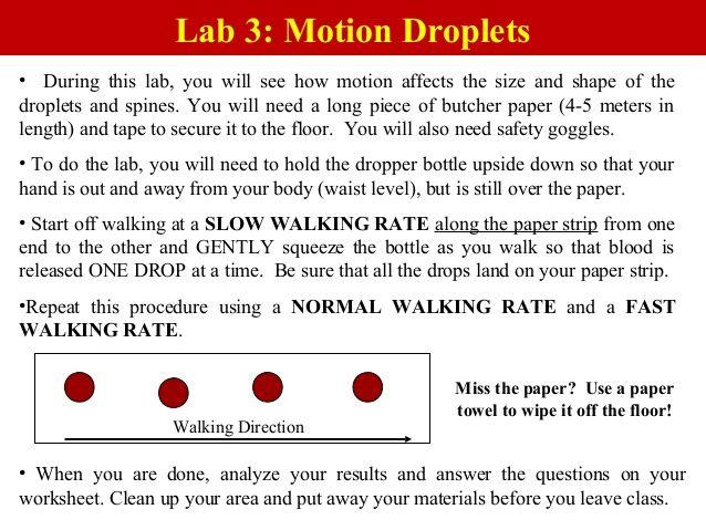 Blood Spatter Lab Google Search Forensics Pinterest Forensics