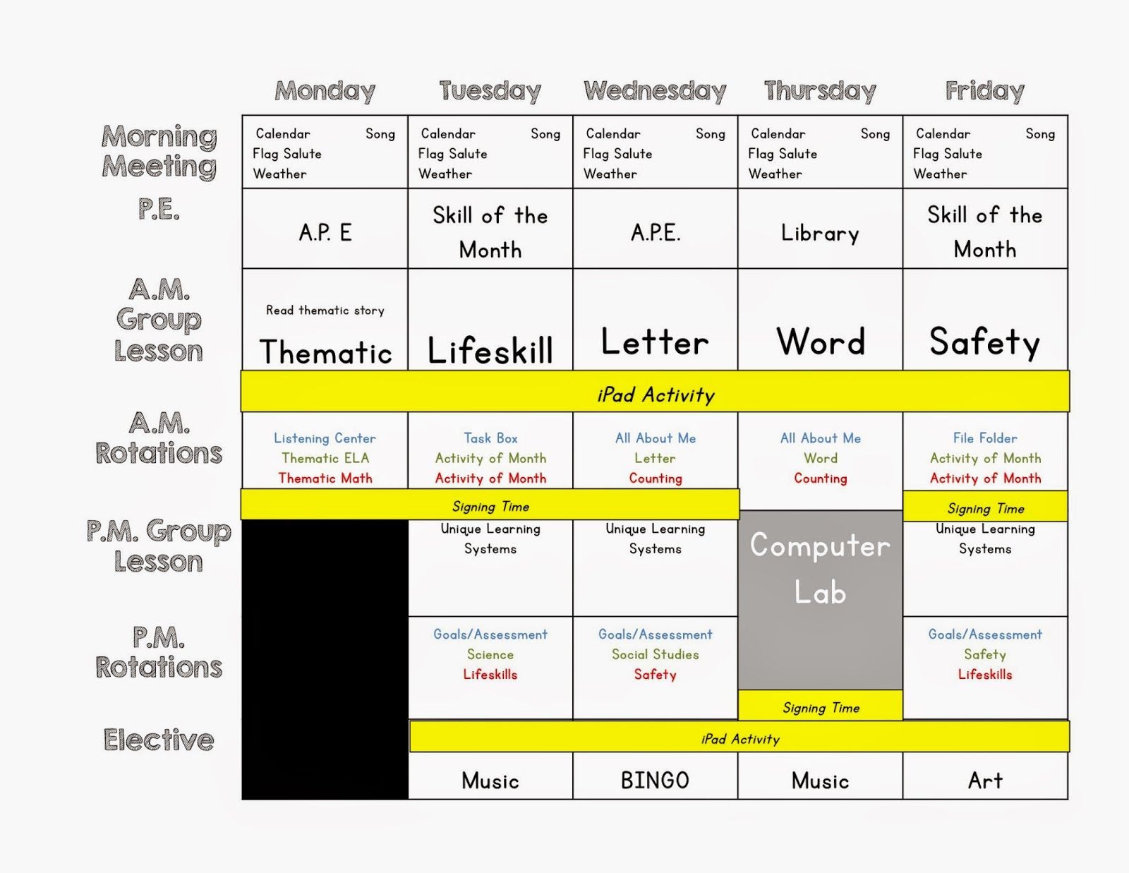 Lesson Planning Cheat Sheet This Is Great For Special Education Teachers