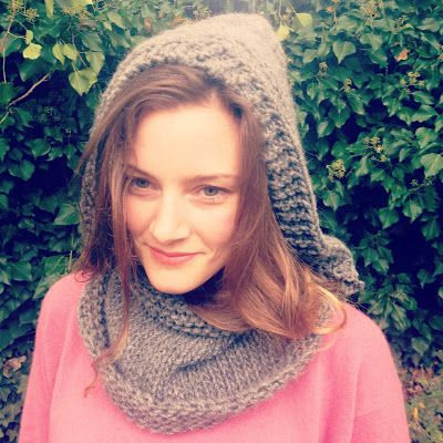 A Free Knitting Pattern For A Hooded Snood Cowl With A Hood Made