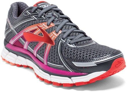 bdbc4b5d2cfc3 Brooks Adrenaline GTS 17 Road-Running Shoes - Women s. Color   Anthracite Festival Fuchsia